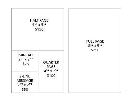 Program book ad sizes