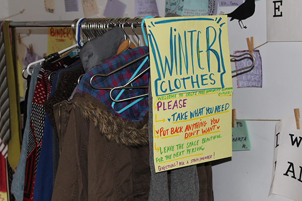 SRLP's Movement Building Team's clothing drive for community members