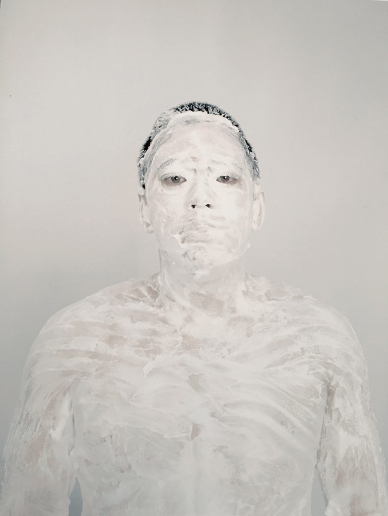 Marin Watts - Self Portrait with Cream #1