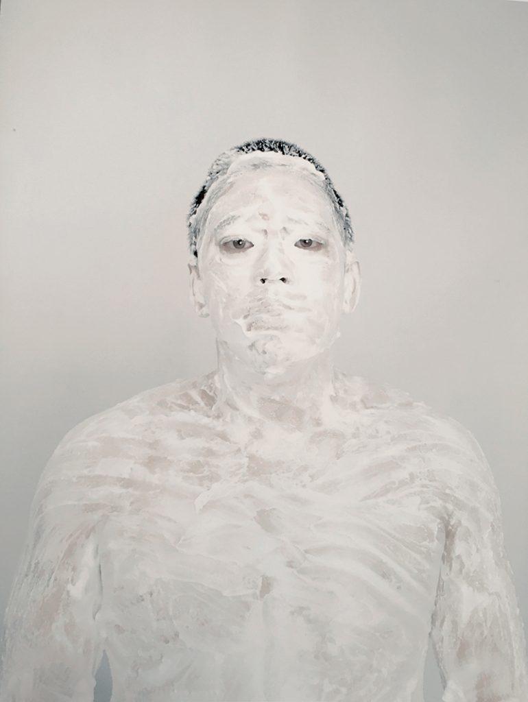 Marin Watts - Self Portrait with Cream #1