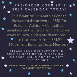 Pre-Order your 2017 SRLP CALENDAR TODAY!